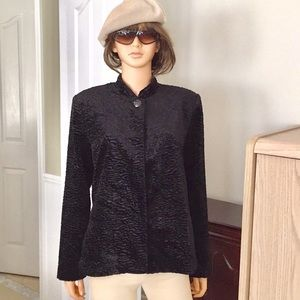 alfred dunner black textured blazer